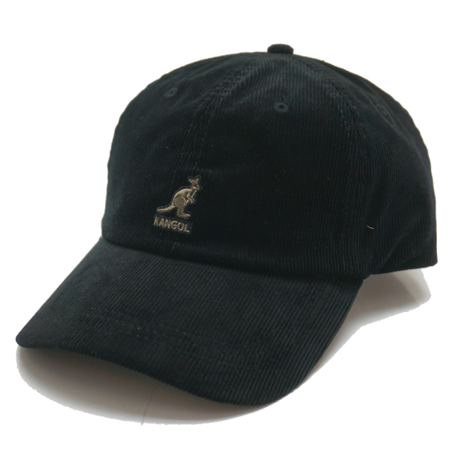 KANGOL カンゴール CORD BASE BALL CAP 197-169007 BLACK