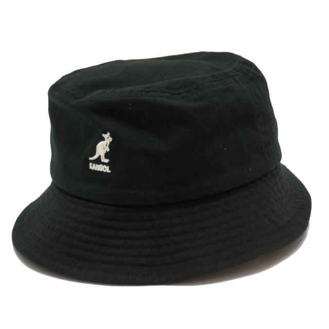 KANGOL カンゴール バケットハット WASHED BUCKET HAT 100-169215 BLACK