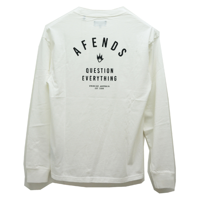 AFENDS アフェンズ ロンT PUBLIC L/S Tee WHITE