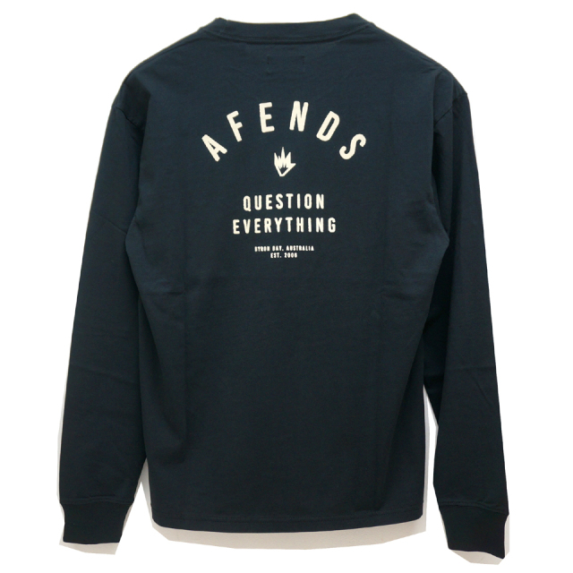 AFENDS アフェンズ ロンT PUBLIC L/S Tee BLACK