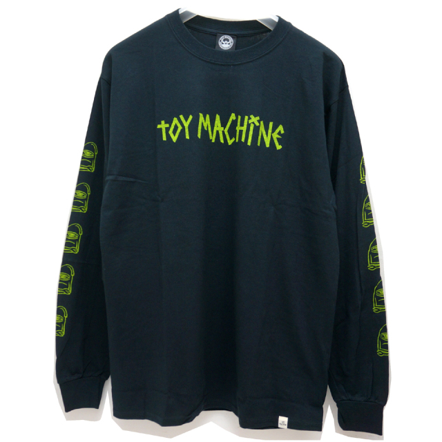 TOY MACHINE トイマシーン ロンT TAPE LOGO L/S Tee BLACK