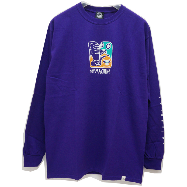TOY MACHINE トイマシーン ロンT SQUARE LOGO L/S Tee PURPLE
