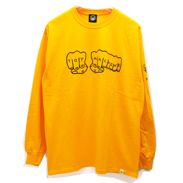 TOY MACHINE トイマシーン ロンT FIST LOGO L/S Tee YELLOW