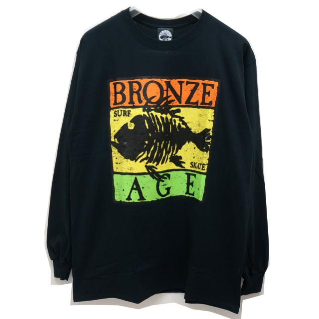 BRONZE AGE ブロンズエイジ ロンT RASTA FISH LOGO L/S Tee BLACK