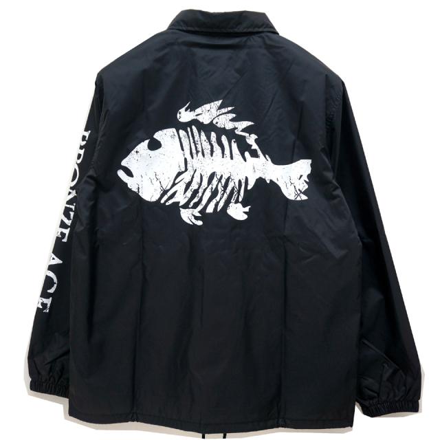 SALE セール BRONZE AGE ブロンズエイジ コーチジャケット FISH LOGO COACH JACKET BLACK