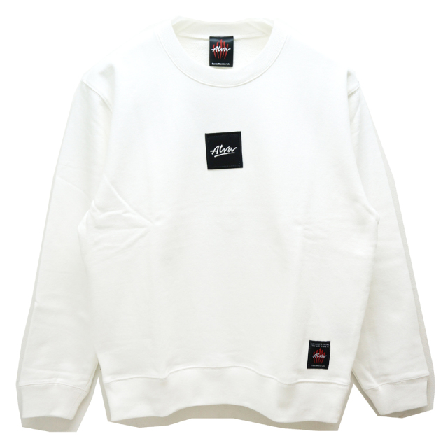 SALE セール TONY ALVA トニーアルバ ALVA SKATES クルースウェット BOX LOGO CREW SWAET WHITE 【#SafeAtHome】
