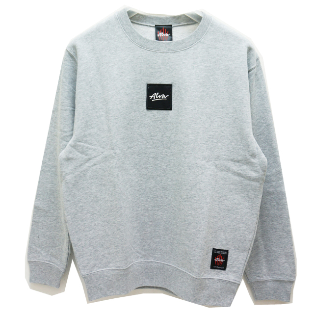 SALE セール TONY ALVA トニーアルバ ALVA SKATES クルースウェット BOX LOGO CREW SWAET GREY 【#SafeAtHome】