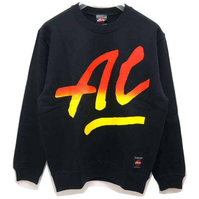 SALE セール TONY ALVA トニーアルバ ALVA SKATES クルースウェット BIG ALVA CREW SWEAT BLACK 【#SafeAtHome】