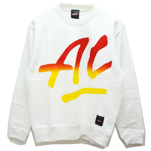 SALE セール TONY ALVA トニーアルバ ALVA SKATES クルースウェット BIG ALVA CREW SWEAT WHITE 【#SafeAtHome】