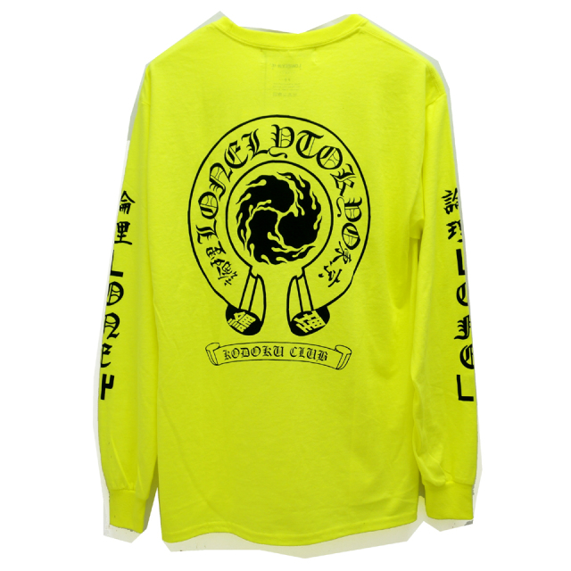 LONELY論理 ロンリー ロンT LONELY HEART L/S Tee - NEON YELLOW