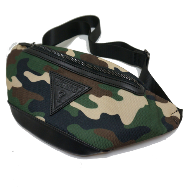 GUESS ゲス ウエストバッグ CAMO WAIST BAG - CAMOUFLAGE