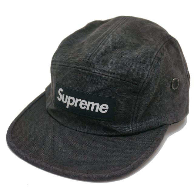 SUPREME シュプリーム WASHED CANVAS CAMP CAP ブラック 黒 BLACK
