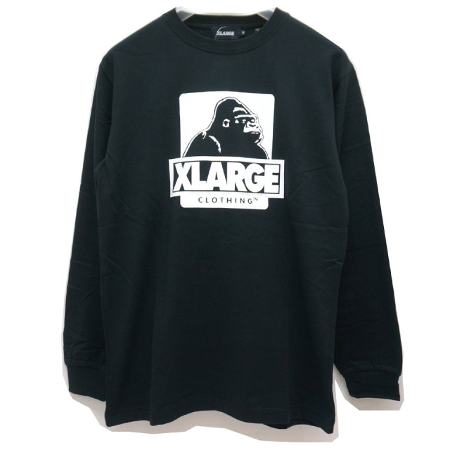 XLARGE エクストララージ ロンT Tシャツ L/S OG LOGO Tee - BLACK