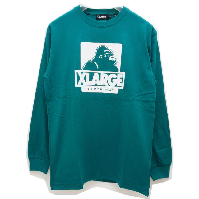 XLARGE エクストララージ ロンT Tシャツ L/S OG LOGO Tee - GREEN