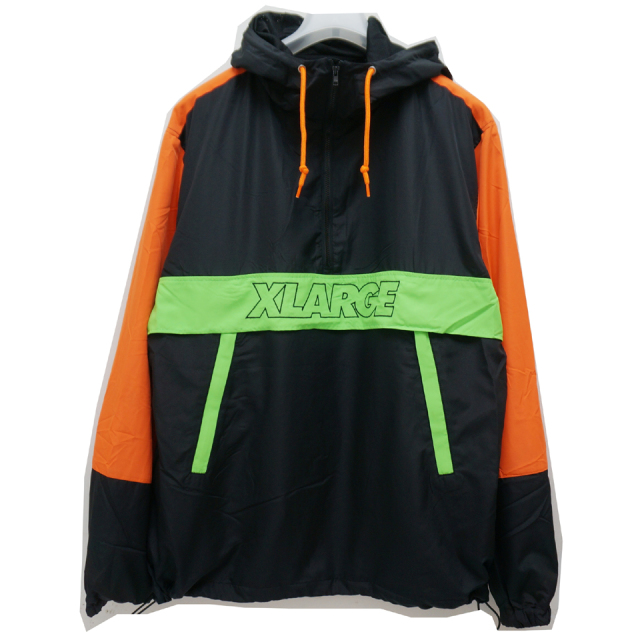 XLARGE エクストララージ アノラックジャケット PANELED ANORAK JACKET - BLACK