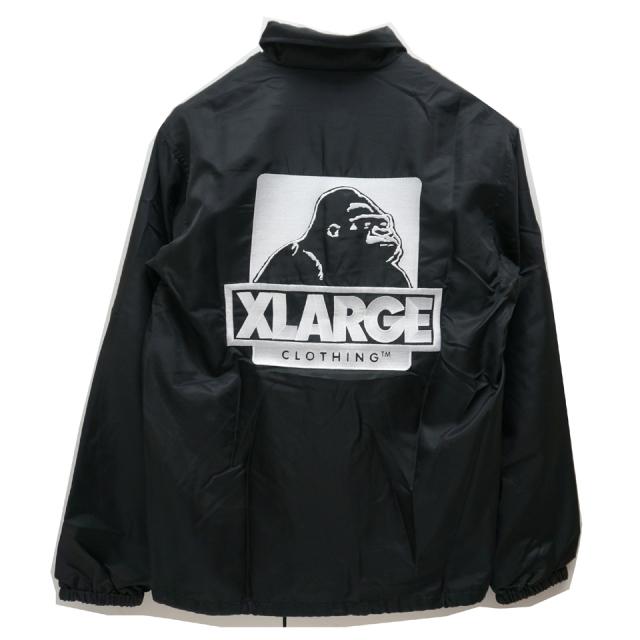 XLARGE エクストララージ コーチジャケット EMBROIDERY COACH JACKET - BLACK