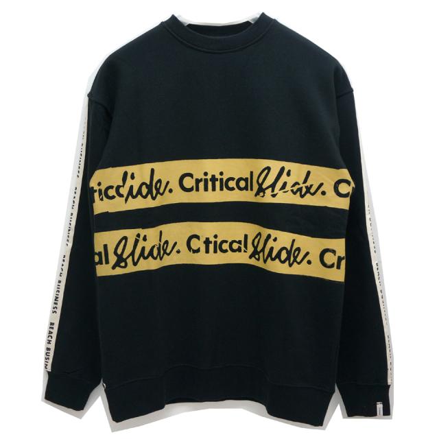 TCSS ティーシーエスエス CRITICAL SLIDE クルースウェット UNCUT CREW NECK - BLACK FC1858