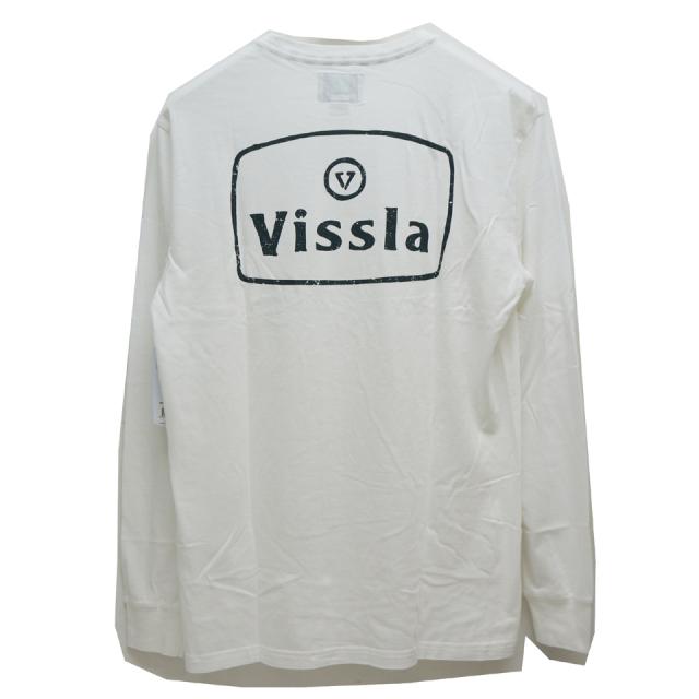 VISSLA ヴィスラ ビスラ ロンT BONES L/S Tee - WHITE