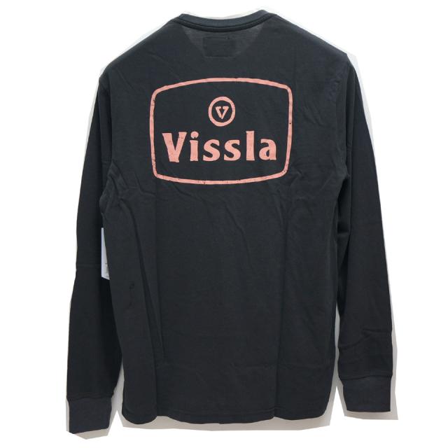 VISSLA ヴィスラ ビスラ ロンT BONES L/S Tee - BLACK