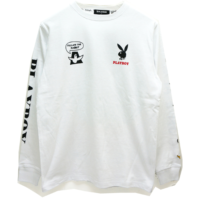 MARK GONZALES マークゴンザレス GONZ × PLAY BOY L/S Tee - WHITE