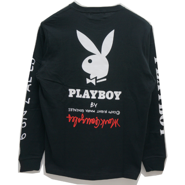 MARK GONZALES マークゴンザレス GONZ × PLAY BOY L/S Tee - BLACK