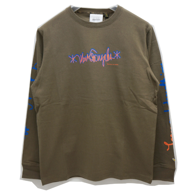 MARK GONZALES マークゴンザレス AS FREE AS I CAN BE L/S Tee - BEIGE