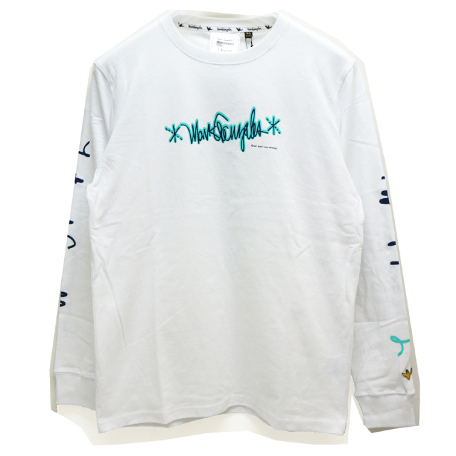 MARK GONZALES マークゴンザレス AS FREE AS I CAN BE L/S Tee - WHITE