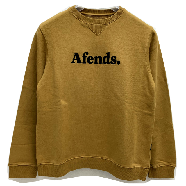 SALE セール AFENDS アフェンズ クルースウェット AFENDS DOT CREW SWEAT - HONEY