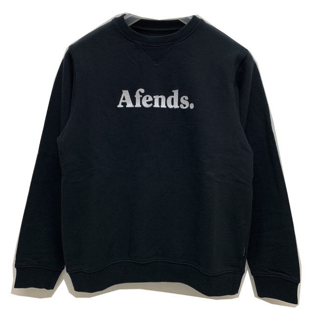 SALE セール AFENDS アフェンズ クルースウェット AFENDS DOT CREW SWEAT - BLACK 【#SafeAtHome】