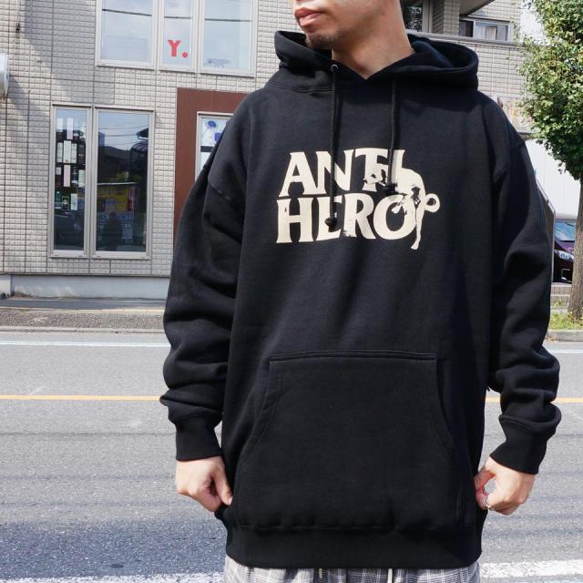ANTI HERO アンタイヒーロー パーカー DOG HUMP HOODIE -  BLACK