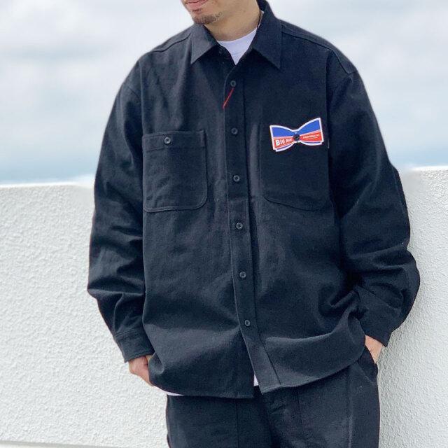 ビッグマック BIG MAC ツイルシャツ TWILL L/S SHIRT セットアップ SET UP ブラック 黒 BLACK