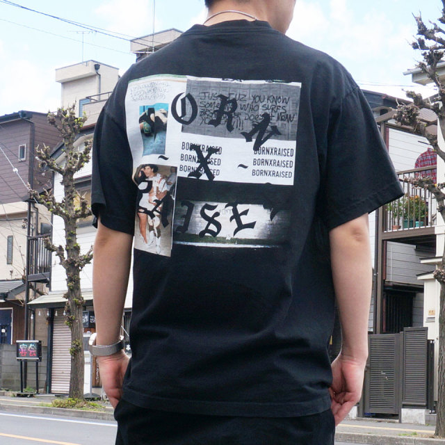 BORN×RAISED ボーンアンドレイズド PARTY SQUARE S/S Tee