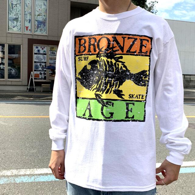 SALE セール BRONZE AGE ブロンズエイジ ロンT RASTA FISH LOGO L/S Tee WHITE