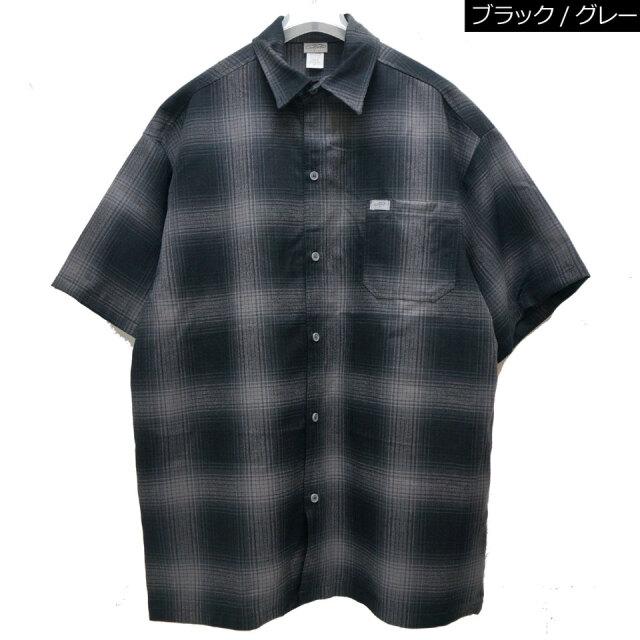 全3色 CALTOP made in USA キャルトップ カルトップ OMBRE CHECK S/S SHIRT 半袖チェックシャツ ブラック/グレー レッド グリーン アメリカ製