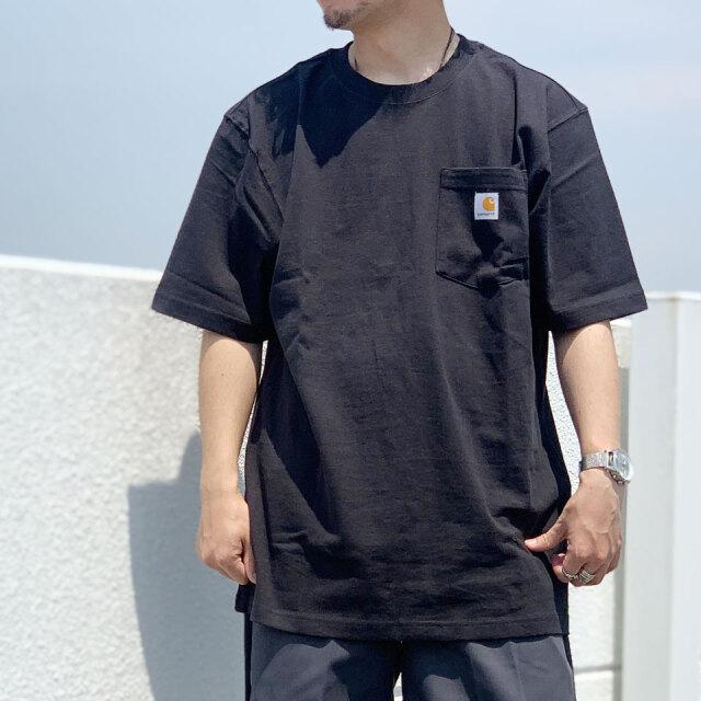 全5色 カーハート CARHARTT Tシャツ LOGO POCKET S/S Tee ポケットTシャツ 定番 ロゴ