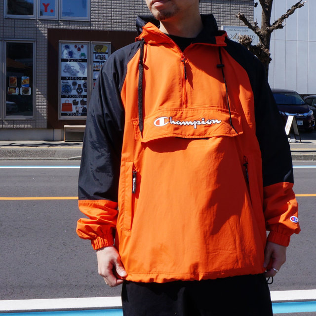 CHAMPION チャンピオン アノラック NYLON ANORAK ナイロンジャケット エメラルド ORANGE オレンジ