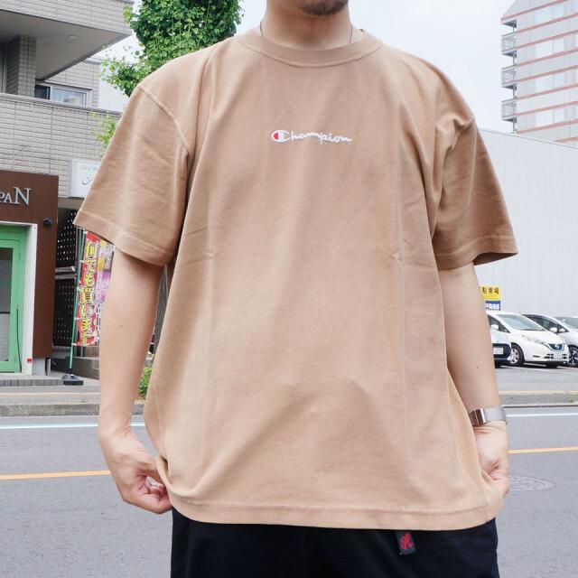 SALE セール CHAMPION チャンピオン リバースウィーブTシャツ REVERSE WEAVE S/S Tee ベージュ C3-R316