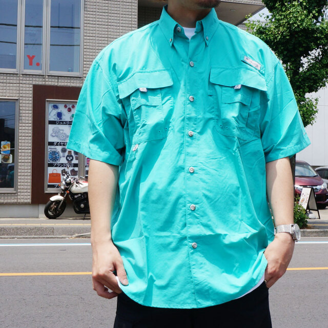 全3色 COLUMBIA コロンビア 半袖フィッシングシャツ BAHAMA 2 S/S SHIRT 半袖 ホワイト アクア イエロー FM7047