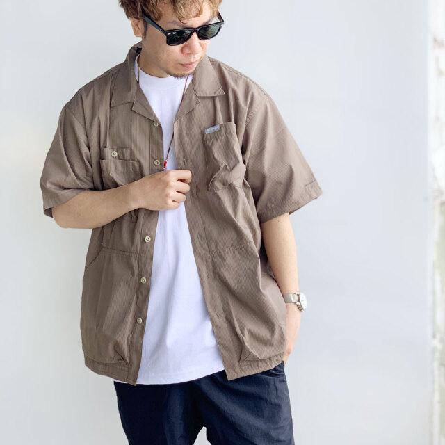 SALE セール コロンビア COLUMBIA アウトドアシャツ HEWSON PARK S/S SHIRT ウェットサンド ベージュ  PM0069