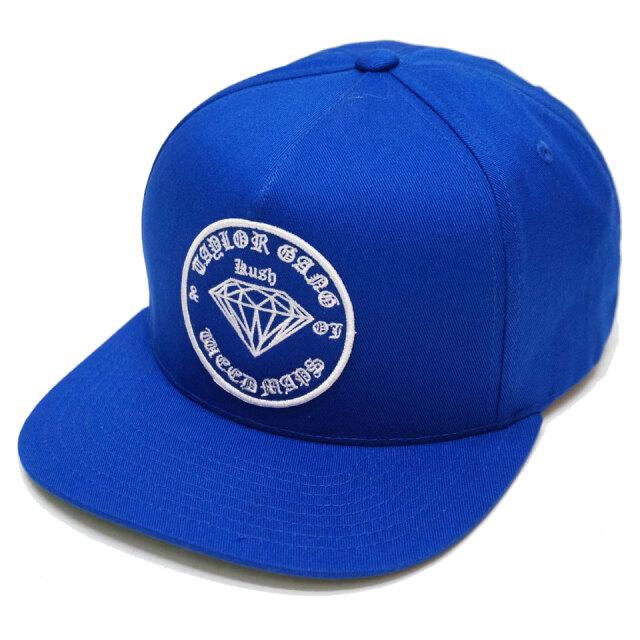 ダイアモンドサプライ DIAMOND SUPPLY Co. スナップバック TAYLOR GANG OG SEAL HAT ウィズカリファ WIZ KHALIFA コラボ 帽子 キャップ ロイヤルブルー 青
