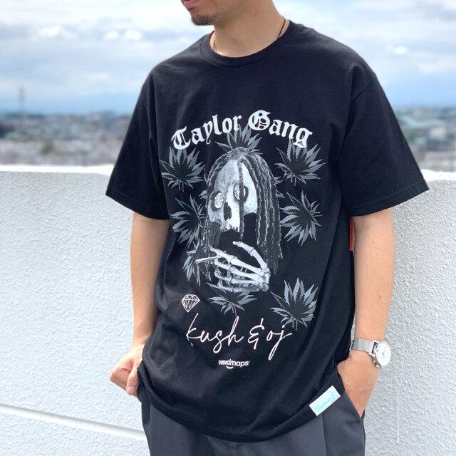 ダイアモンドサプライ DIAMOND SUPPLY Co. Tシャツ TAYLOR GANG TGOD SKULL S/S Tee 半袖 ウィズカリファ WIZ KHALIFA コラボ ブラック