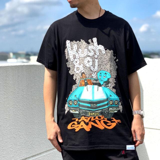 全2色 ダイアモンドサプライ DIAMOND SUPPLY Co. Tシャツ TAYLOR GANG WHILE DRIVING S/S Tee 半袖 ウィズカリファ WIZ KHALIFA コラボ ホワイト ブラック