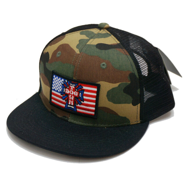 DOG TOWN ドッグタウン メッシュキャップ FLAG PATCH HAT キャップ 帽子 カモ