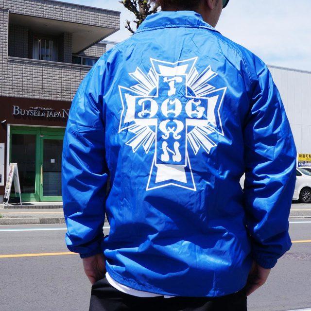 DOG TOWN ドッグタウン コーチジャケット CROSS LOGO COACH JACKET ナイロンジャケット ブルー