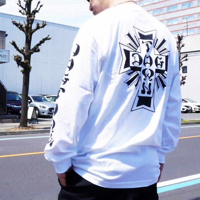 DOG TOWN ドッグタウン ロンT Tシャツ CROSS LOGO L/S Tee ブラック ホワイト