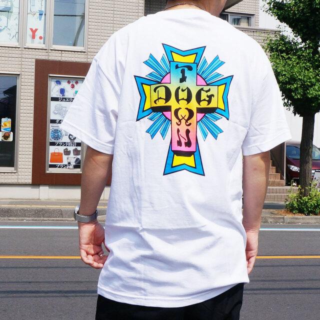 全2色 DOG TOWN ドッグタウン Tシャツ NEON CROSS S/S Tee クロスロゴ ブラック ホワイト