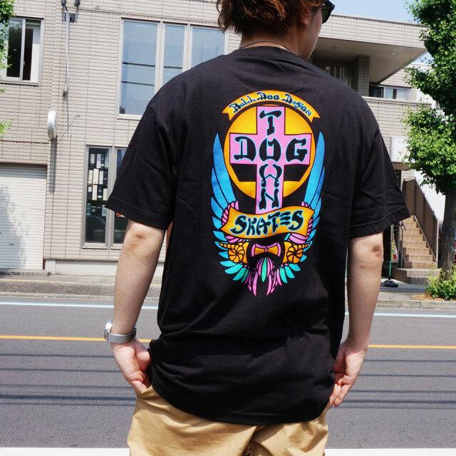 全2色 DOG TOWN ドッグタウン Tシャツ BULL DOG LTD COLOR S/S Tee ブルドッグ ブラック ホワイト