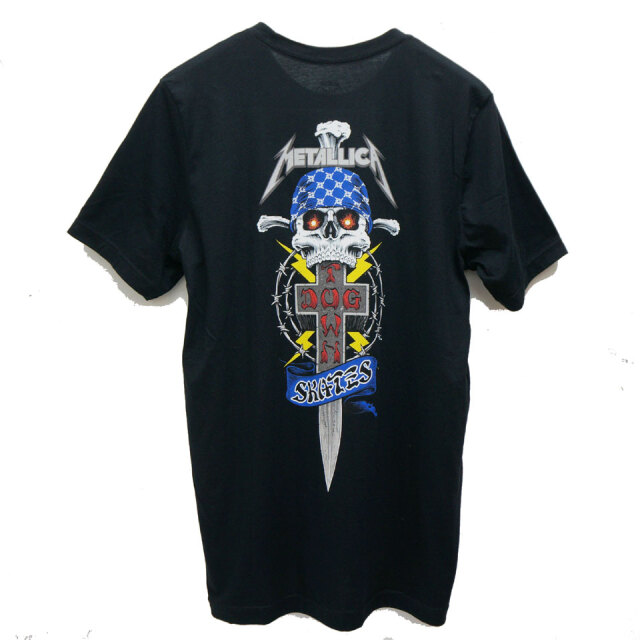 DOG TOWN ドッグタウン Tシャツ DT × METALLICA Tee メタリカ コラボ ブラック