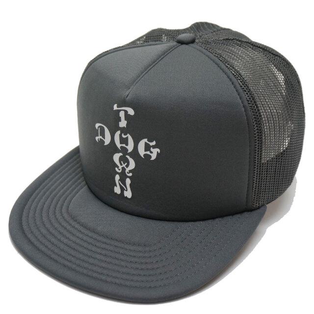 DOG TOWN ドッグタウン メッシュキャップ CROSS LOGO TRUCKER CAP キャップ 帽子 チャコールグレー