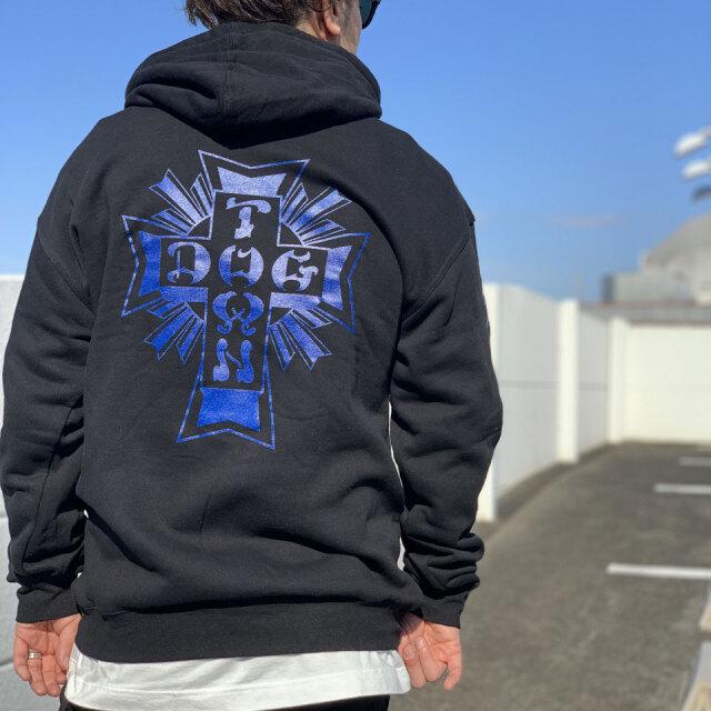DOG TOWN ドッグタウン パーカー CROSS LOGO P/O HOODIE ブラック 黒